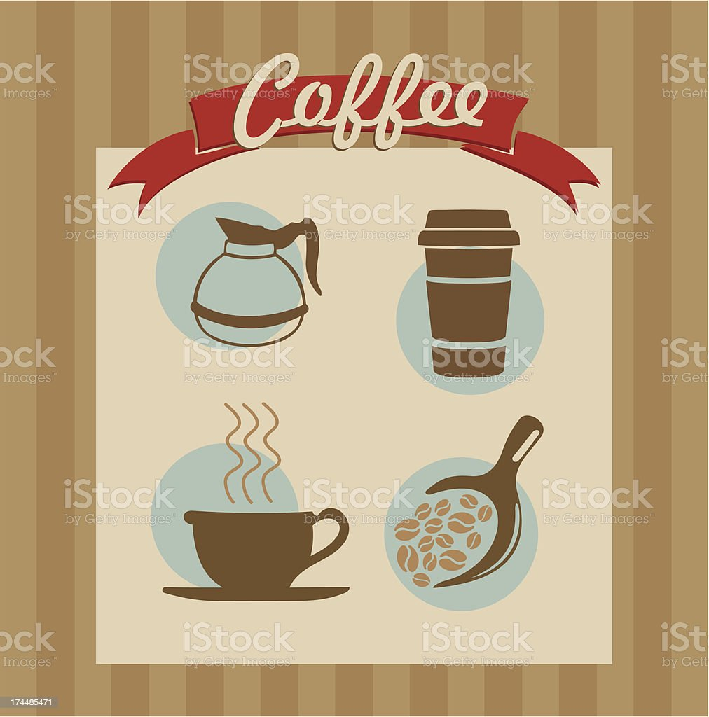Retro coffee poster royalty-free stock vector art