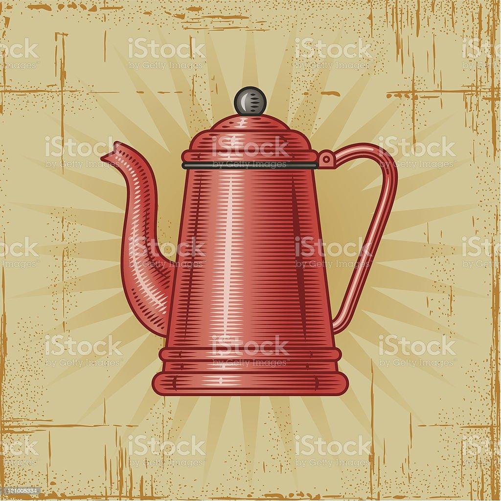 Retro Coffee Pot royalty-free stock vector art