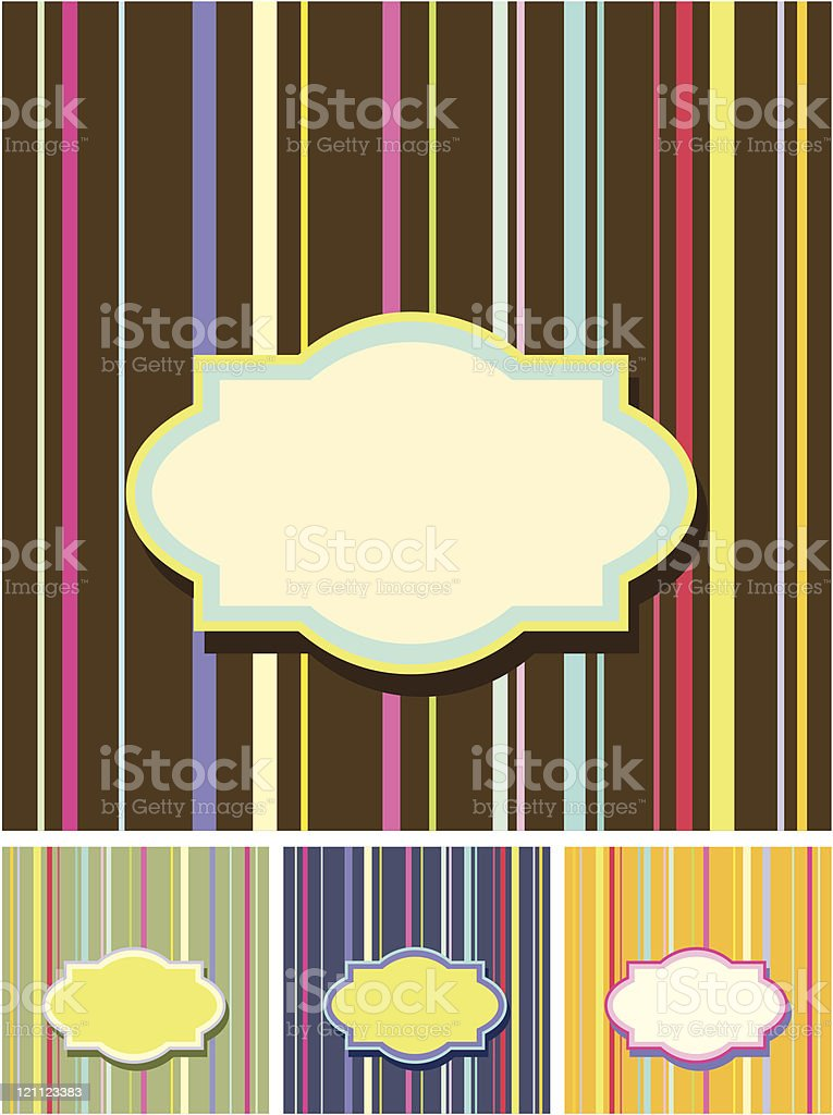 Retro colorful backgrounds royalty-free stock vector art