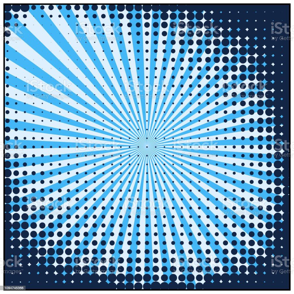 retro comic Blue background raster gradient halftone pop art retro...