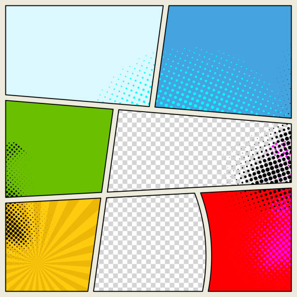 Retro Comic Book Vector Background Retro Comic Book Vector Background undressing stock illustrations
