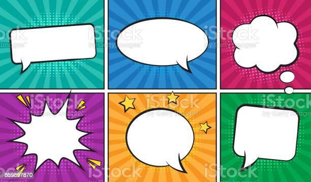 Retro comic empty speech bubbles set on colorful background vector id859897870?b=1&k=6&m=859897870&s=612x612&h=0ybqqjkfrqcckugzje91qsx0idzymojw 1bh3tj8xlg=