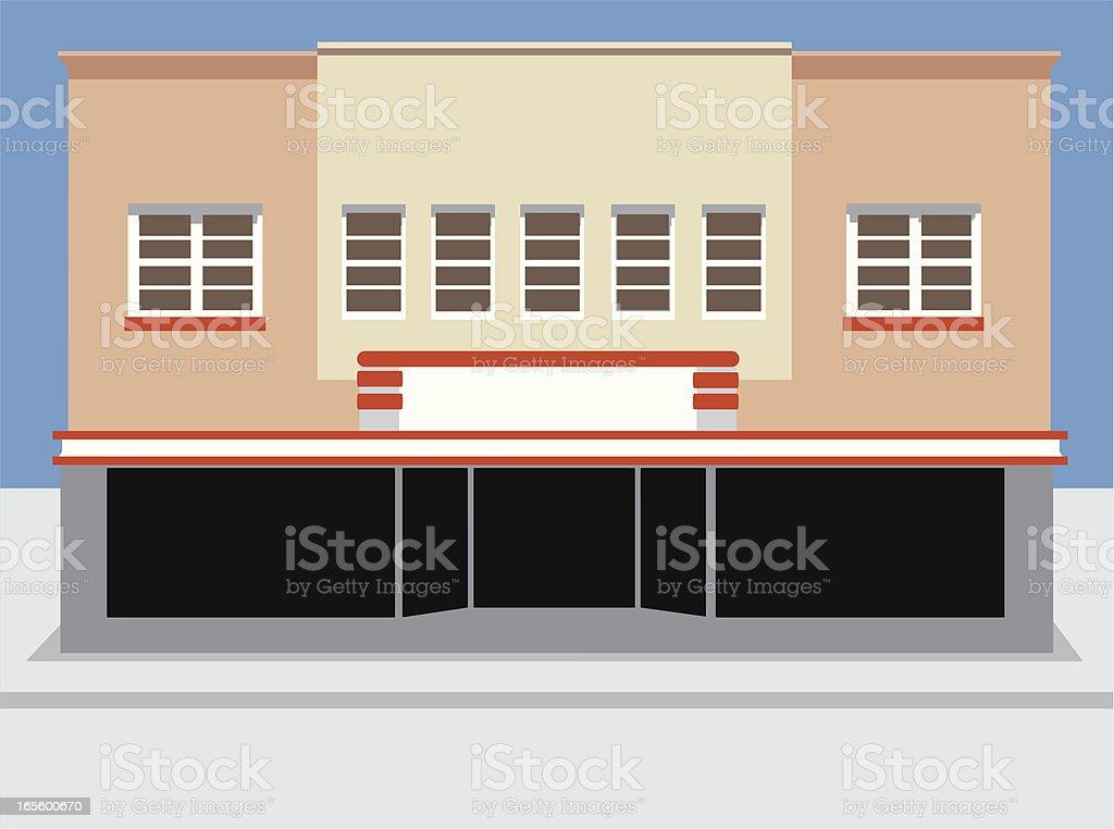Retro Commercial Building royalty-free stock vector art