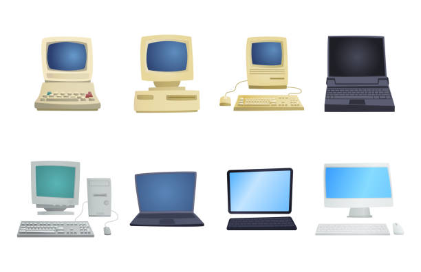 Royalty Free Old Computer Clip Art, Vector Images ...