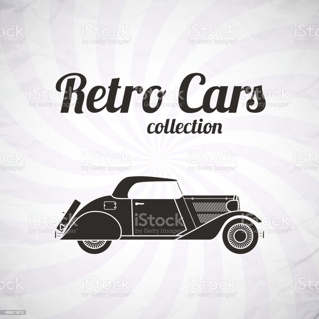 Retro cabriolet car, vintage collection royalty-free retro cabriolet car vintage collection stock vector art & more images of american culture