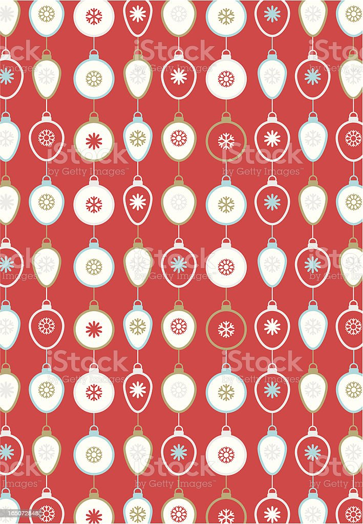 Retro Cool Christmas Baubles in a Repeat Pattern. royalty-free stock vector art