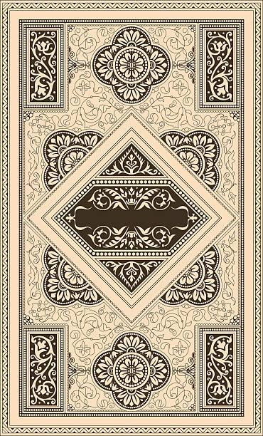(Classic) Retro cover Retro cover book borders stock illustrations