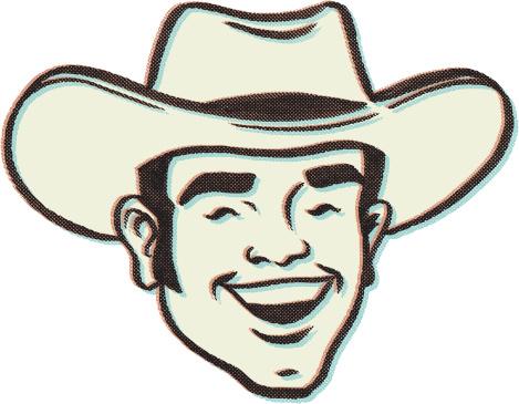 retro cow boy