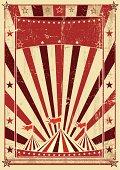 retro cream color circus letter