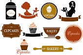 A selection of vintage style labels. Click below for more food images.