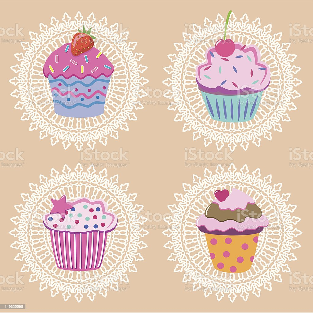 retro cupcakes royalty-free retro cupcakes stock vector art & more images of berry fruit