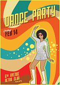 Retro dance party poster
