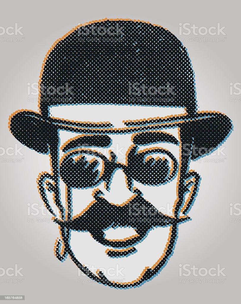 retro dandy man royalty-free stock vector art