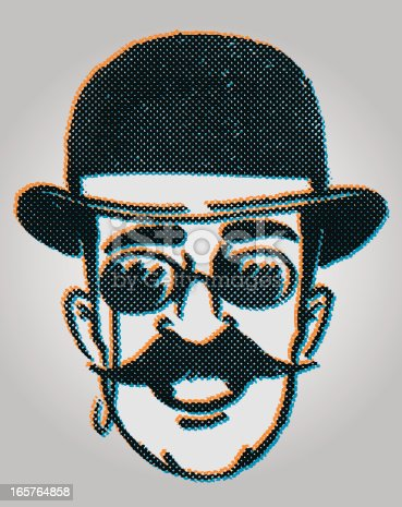 7b3c1bbe1dcb2 retro dandy man · Cartoon old gentleman retro hat vector icon set ·  Theatrical characters - The Stage Detective