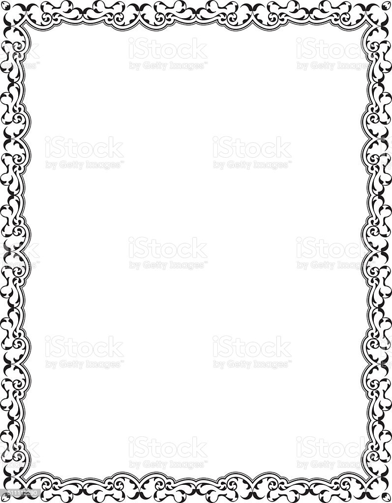 Retro Decor Nice Art Frame Stock Vector Art & More Images of ...
