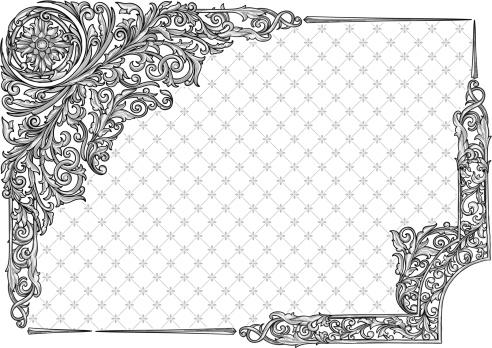 Retro decorative corners