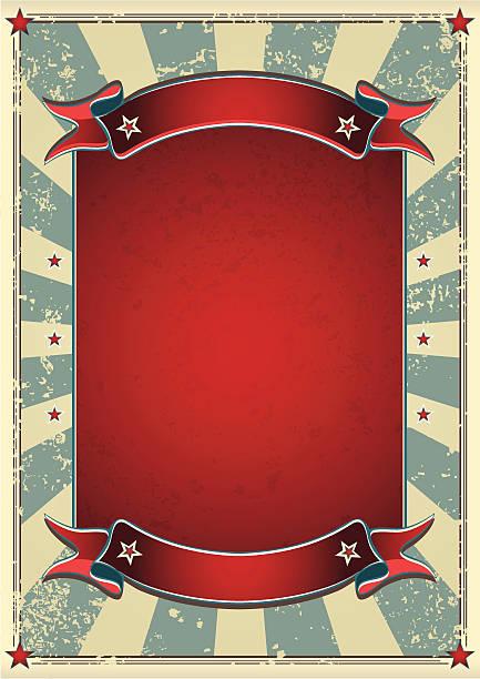 Retro decorative poster 60's Retro Effect with Classic Color. temps stock illustrations