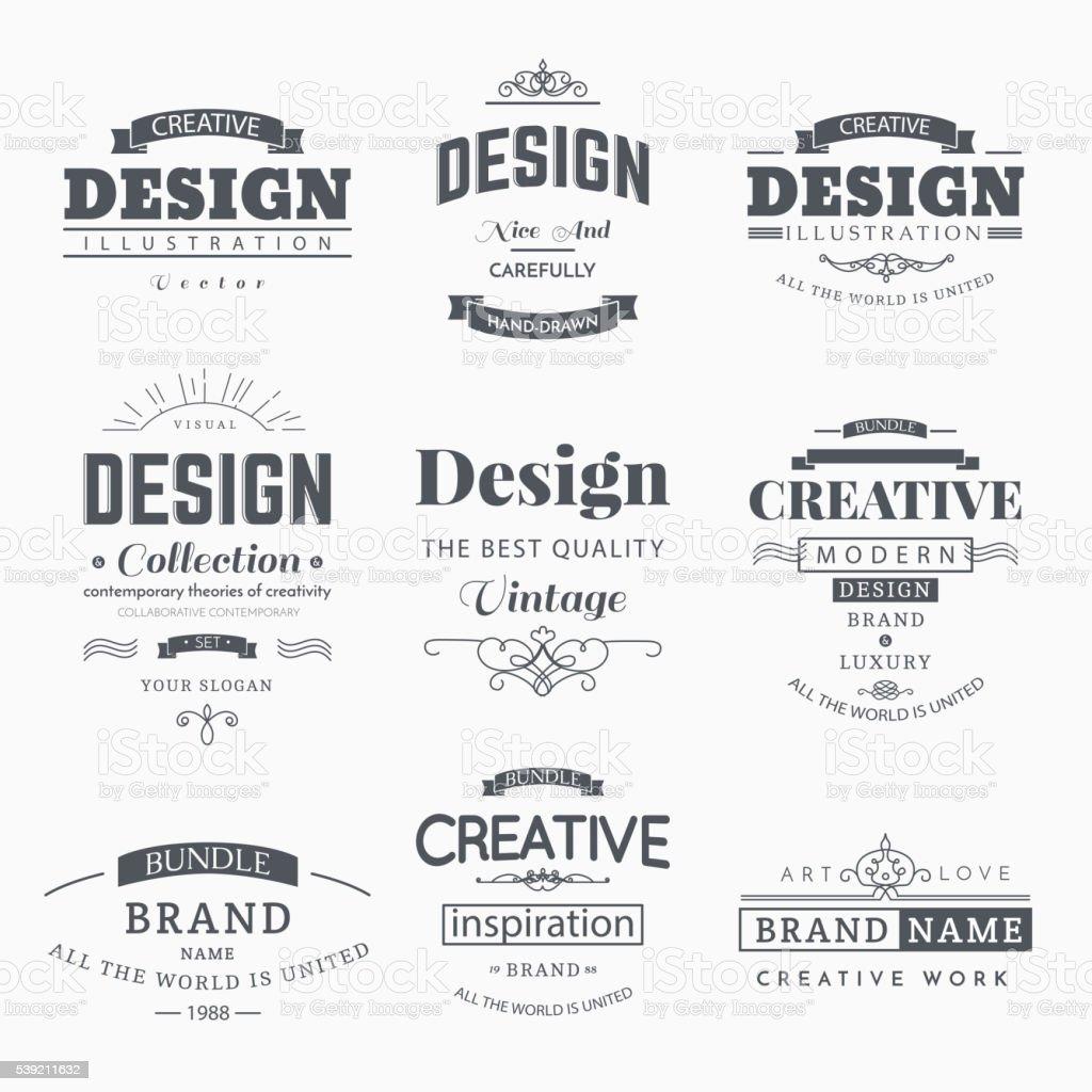 Rétro étiquettes Vintage Conception créatif - Illustration vectorielle