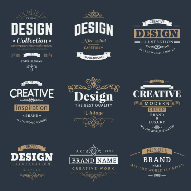 retro design creative vintage labels - hipster fashion stock illustrations, clip art, cartoons, & icons