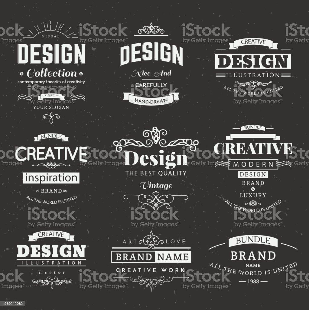 Retro Design Creative Vintage labels vector art illustration