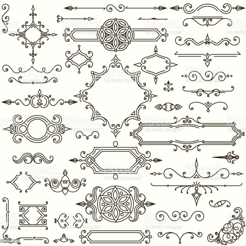 Retro design elements collection