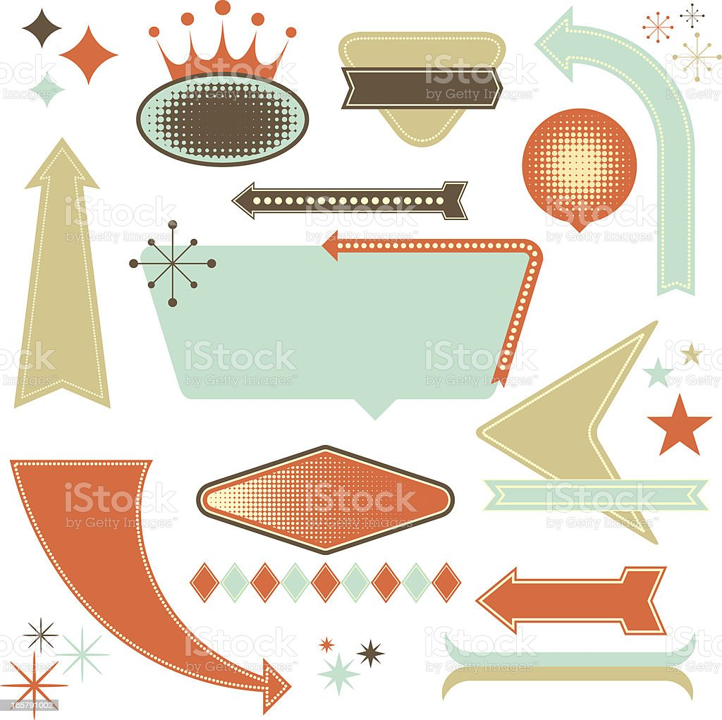 Retro Design Elements vector art illustration