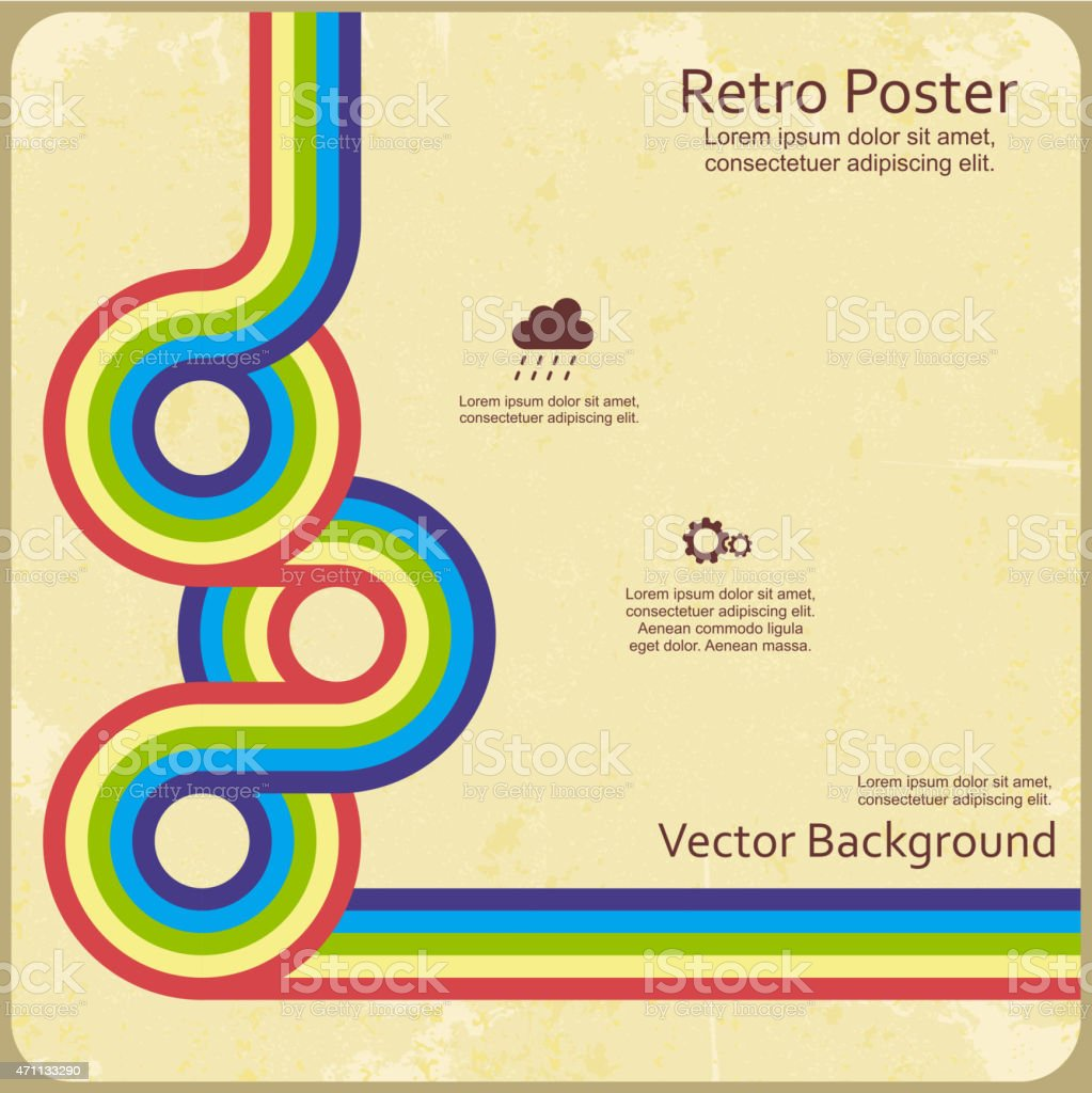 Retro design template for vector background vector art illustration