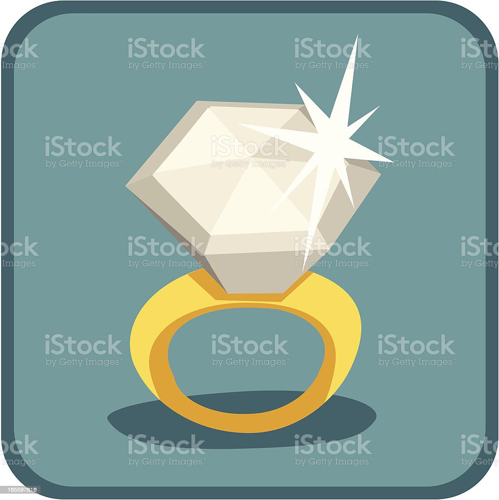 Retro Diamond Ring royalty-free retro diamond ring stock vector art & more images of 1950-1959
