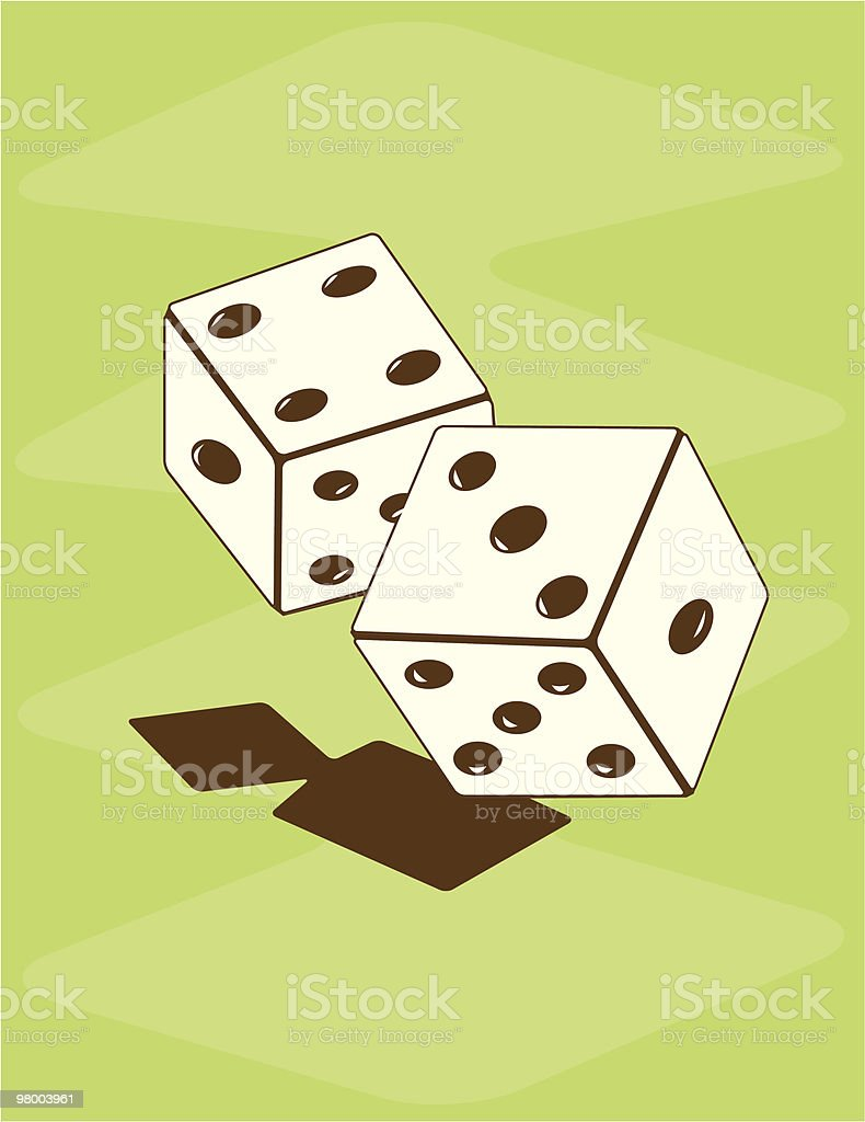 Retro Dice royalty-free retro dice stock vector art & more images of 1950-1959