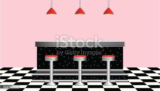 istock Retro Diner 1950s style 104297096