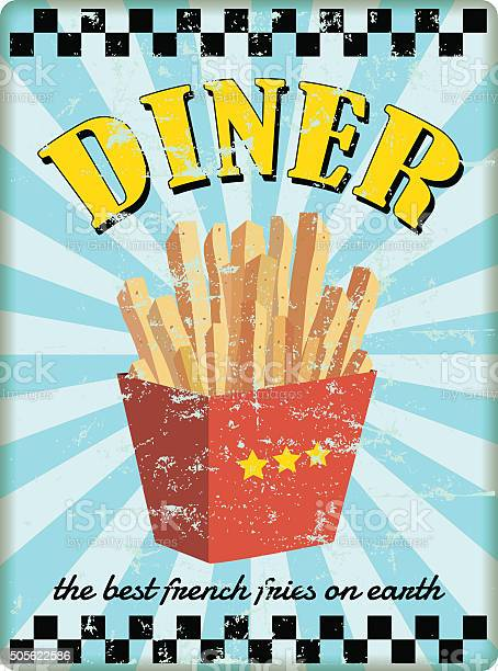 Retro diner sign with french fries vector id505622586?b=1&k=6&m=505622586&s=612x612&h=yrwh4fkvcmi2gugrwtr8n70seep2mjh8wlggnepru m=
