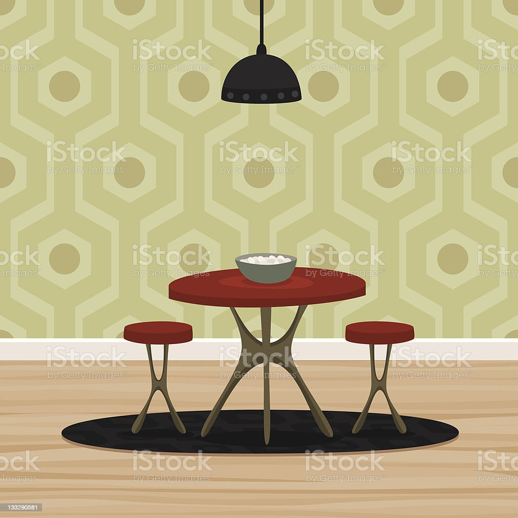 Retro Dining Room Royalty Free Stock Vector Art Amp More Images