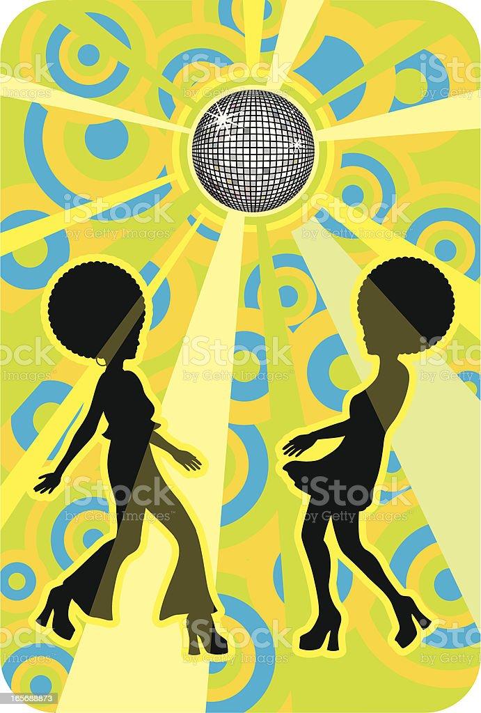 retro discotheque - Royaltyfri 50-54 år vektorgrafik