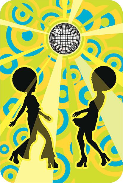 bildbanksillustrationer, clip art samt tecknat material och ikoner med retro discotheque - 50 59 år