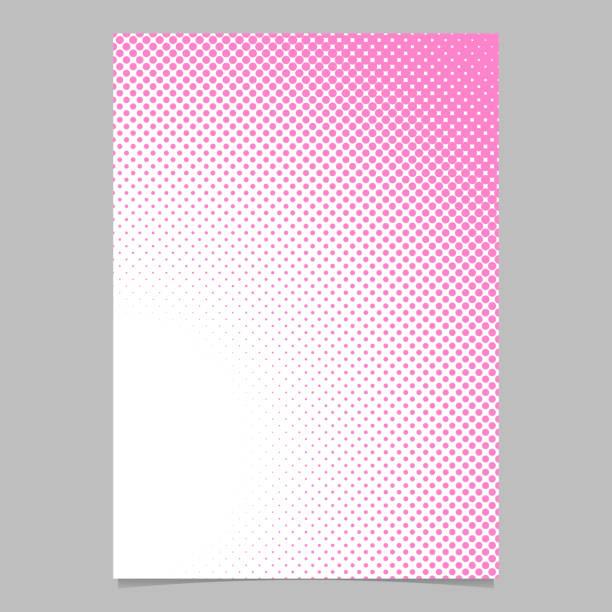 bildbanksillustrationer, clip art samt tecknat material och ikoner med retro dot mönster bakgrund affisch malldesign - brevpapper vektorillustration - rosa bakgrund