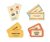 Retro double  tickets set