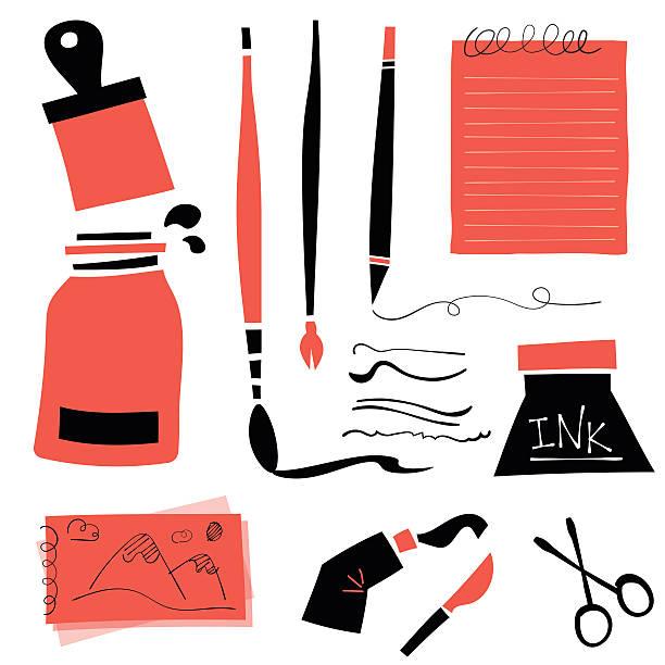 Retro drawing tools - Illustration vectorielle