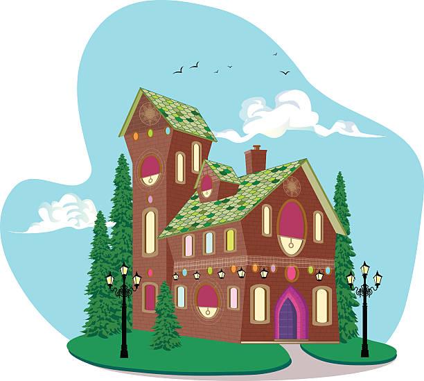 Retro Dream House Vector illustration of Retro Dream House. dollhouse stock illustrations