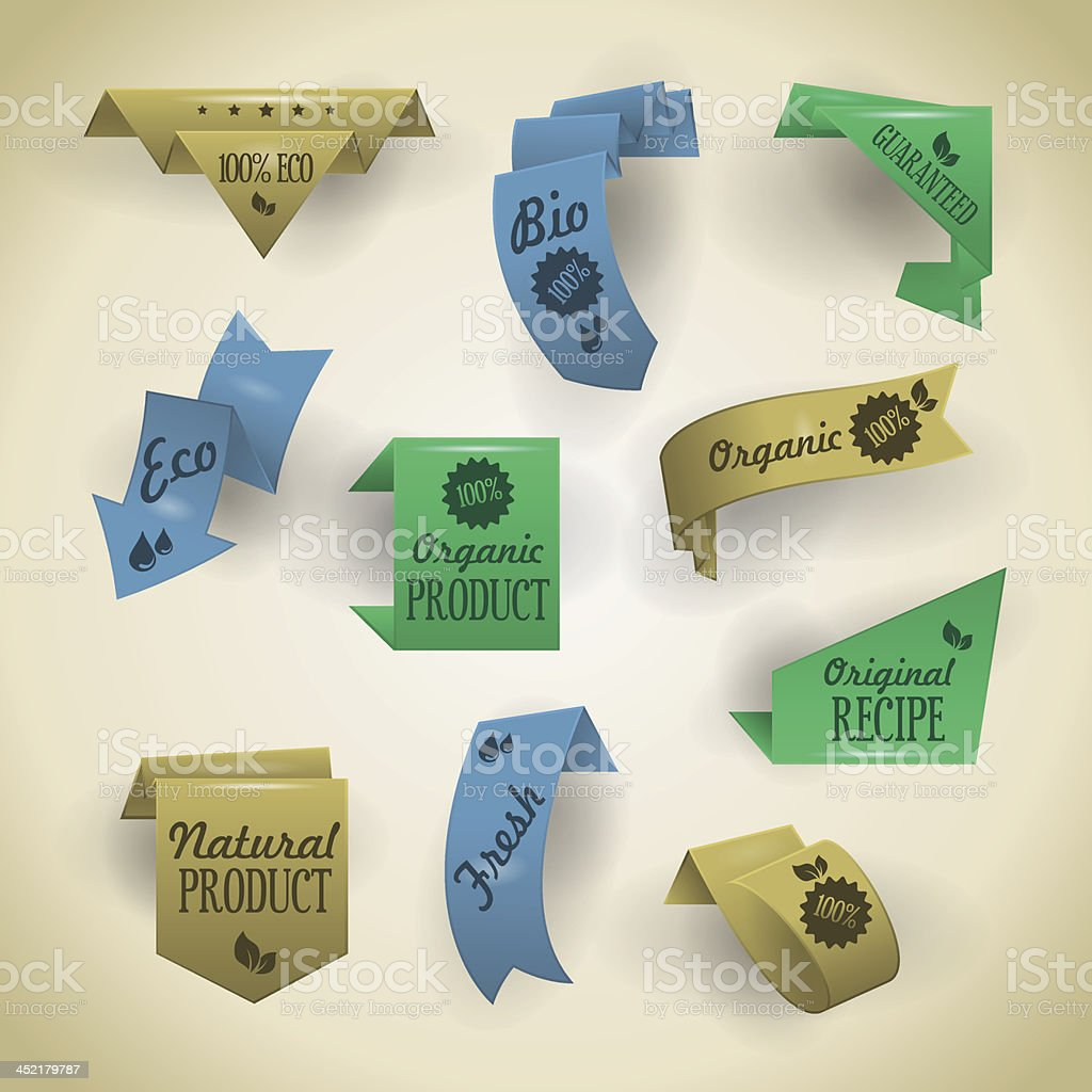 Retro eco sale bookmarks royalty-free stock vector art