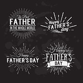 Retro elements for Father's Day calligraphic designs. Vintage ornaments.Happy Father's Day Typographical Background.