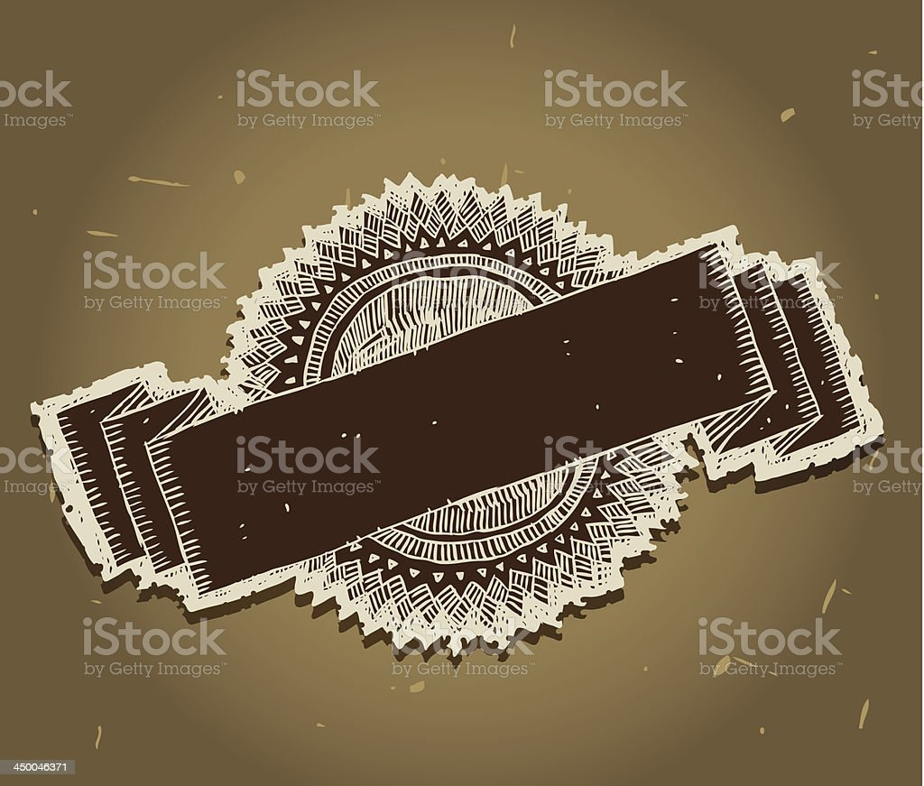 Retro emblem with banner royalty-free stock vector art