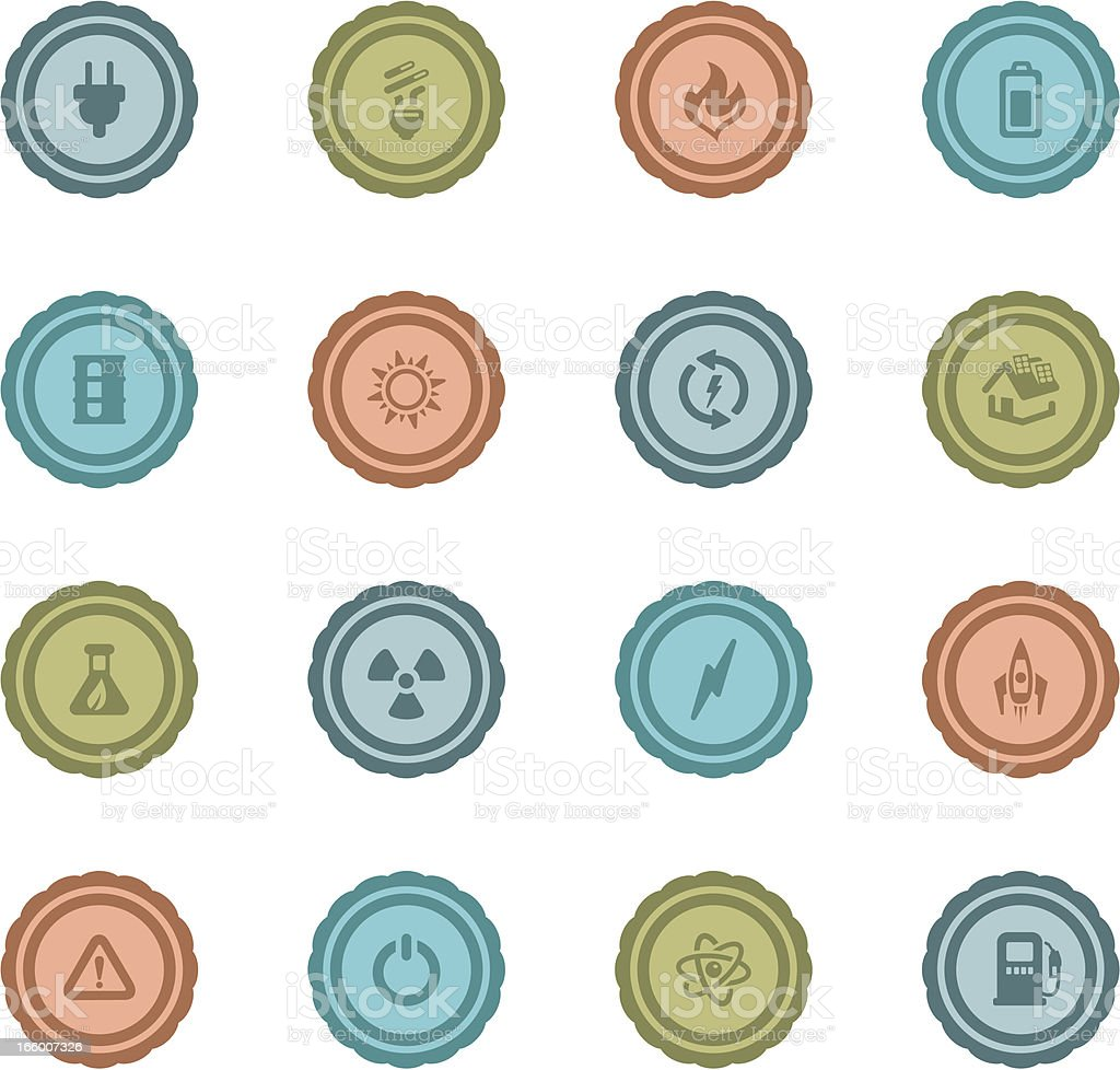 Retro Energy Badges vector art illustration