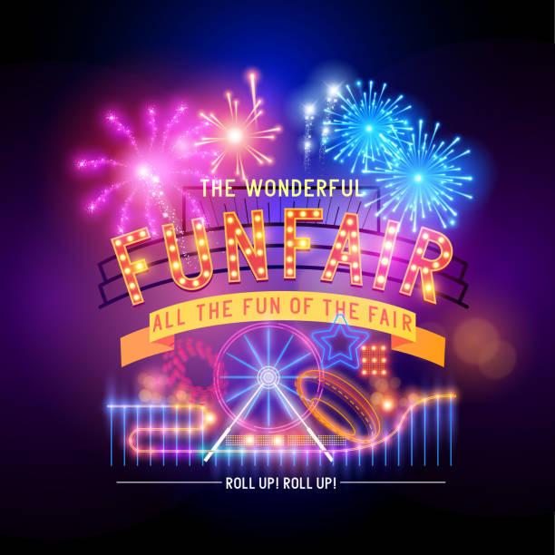 Retro Fairground Circus Sign vector art illustration
