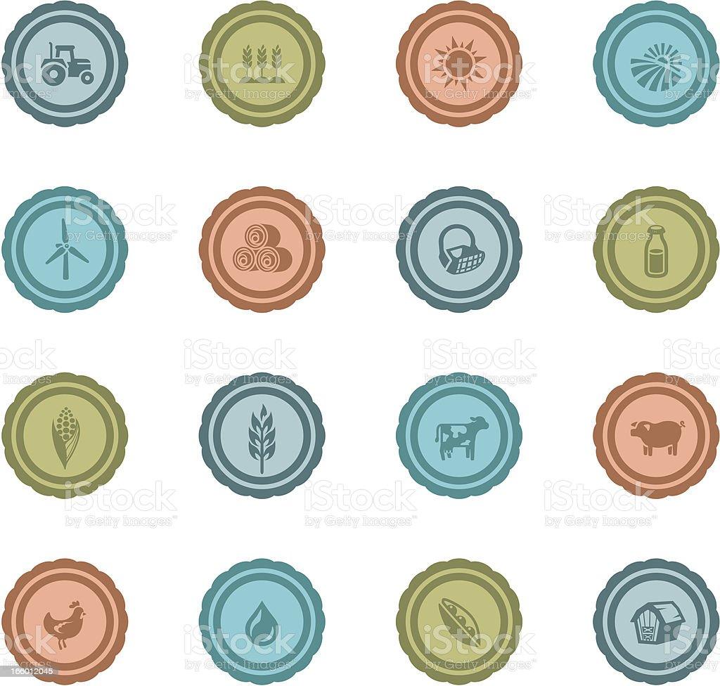 Retro Farming Badges royalty-free stock vector art