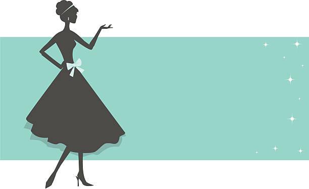 Retro Fashion Banner vector art illustration