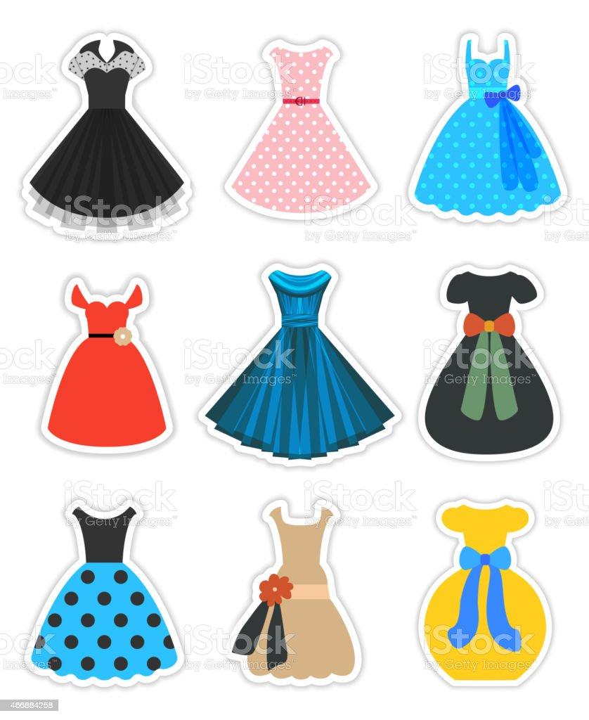 Retromode Kleider Set Stock Vektor Art und mehr Bilder von 16-16