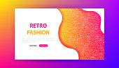 Retro Fashion Landing Page. Vector Illustration of Web Banner.