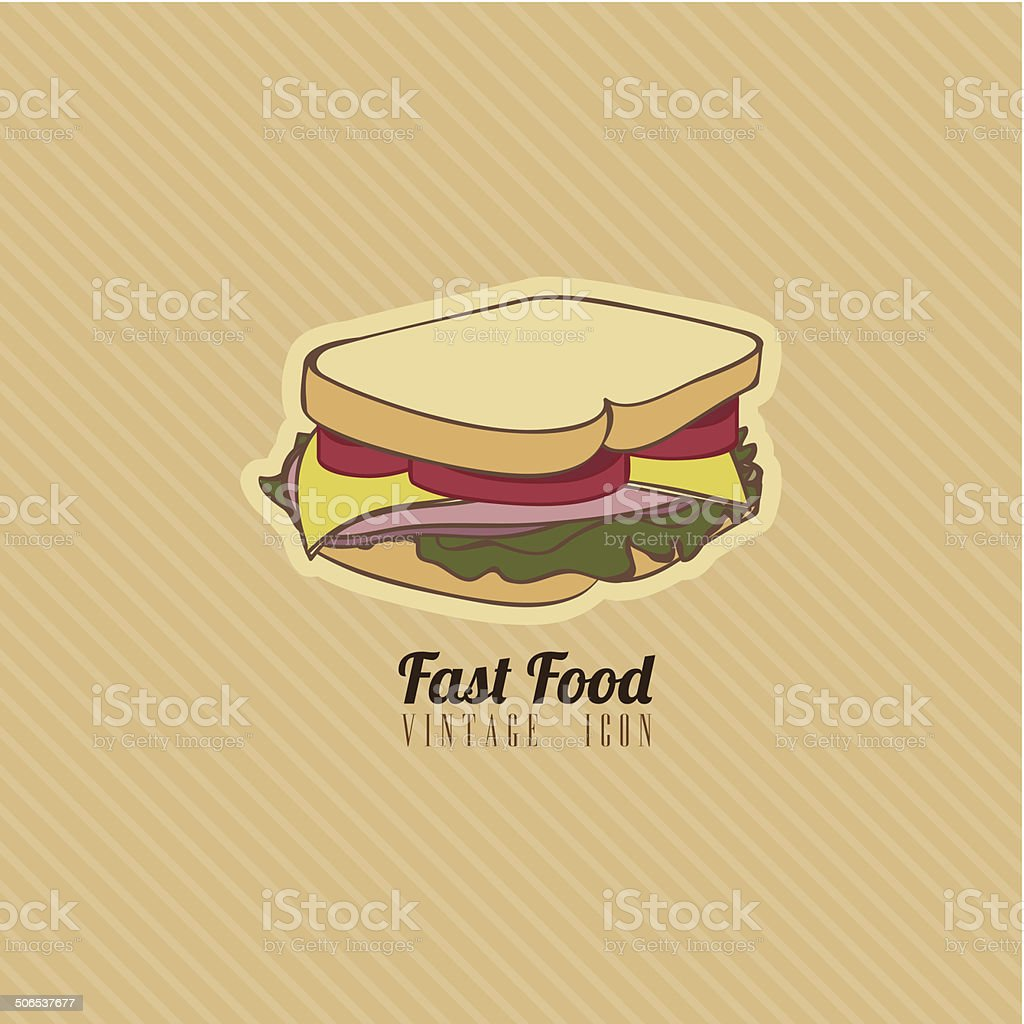 retro fast food vector art illustration