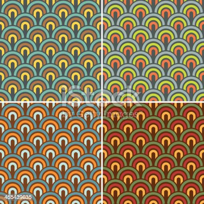 istock Retro fish scale background 455439635
