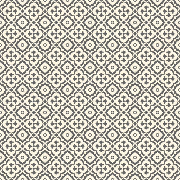 retro floor tiles patern - tile pattern stock illustrations, clip art, cartoons, & icons